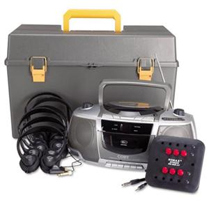 AmpliVox SL1070 6-Station Listening Center w/ Headphones