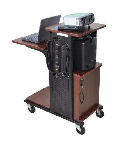 AmpliVox SN3330 Mobile Presentation Station, Locking Cabinet (Black)