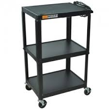 Amplivox SN3365 Height-Adjustable Industrial Metal Cart