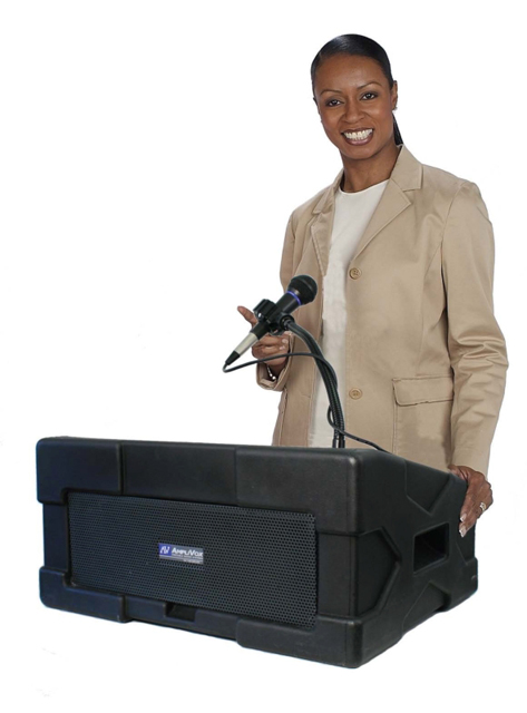 UHF Wireless Roving Rostrum Podium PA
