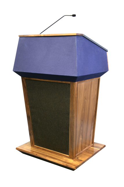 Patriot Solid Hardwood Sound Lectern, Natural oak