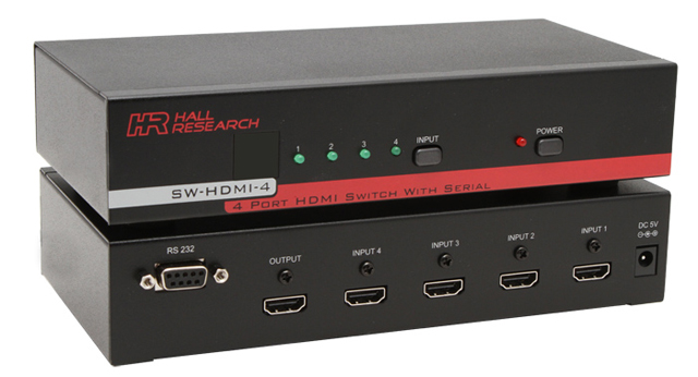 Hall Research SW-HDMI-4 4-port HDMI Switch