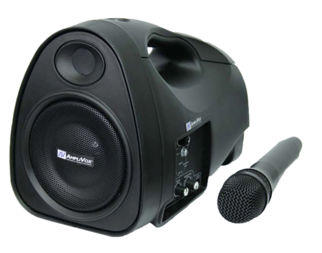Amplivox SW300 Mity-Lite Portable PA System with Wireless Microphone