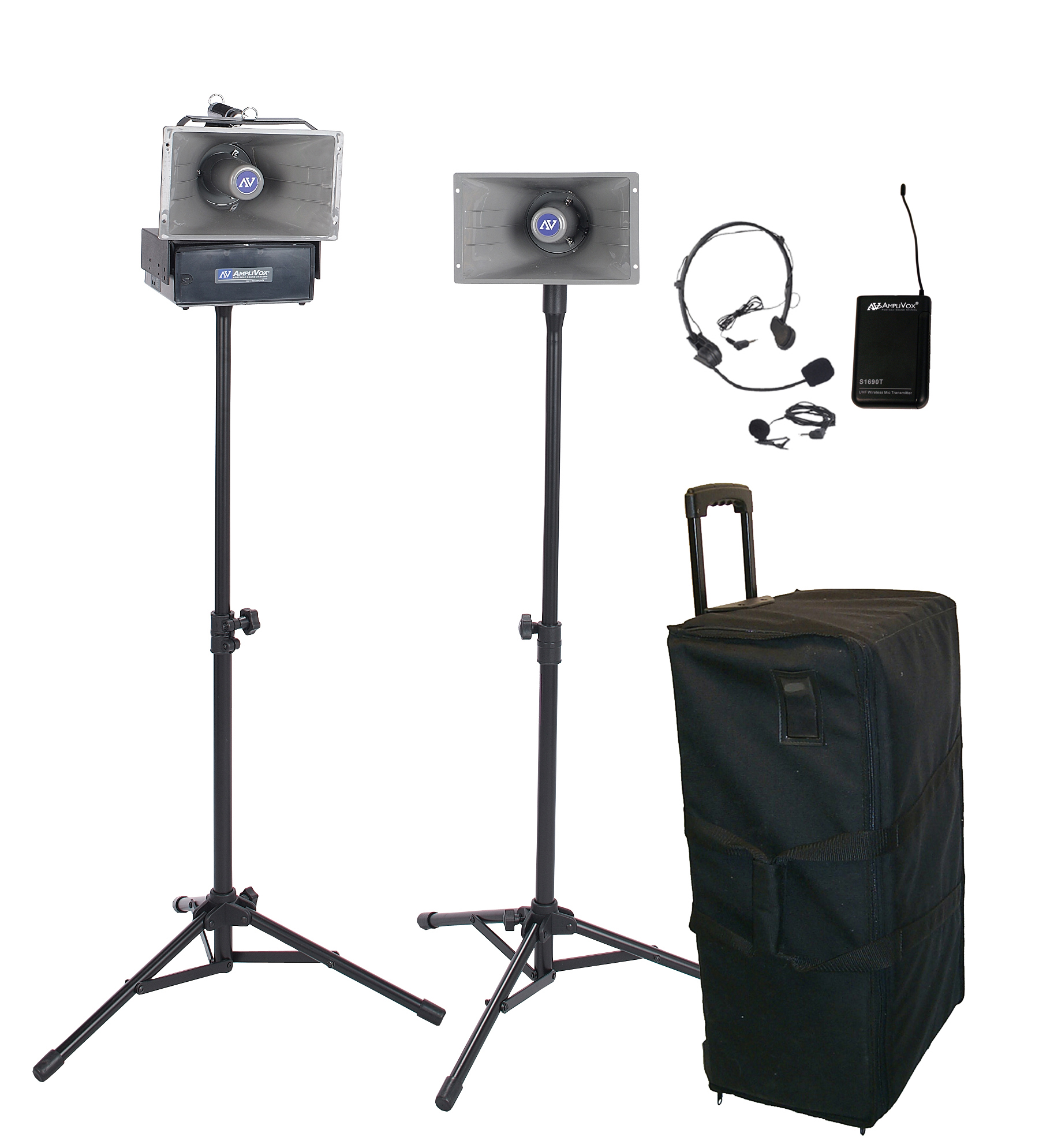 AmpliVox SW630 Half-Mile Hailer Portable Wireless PA System Kit