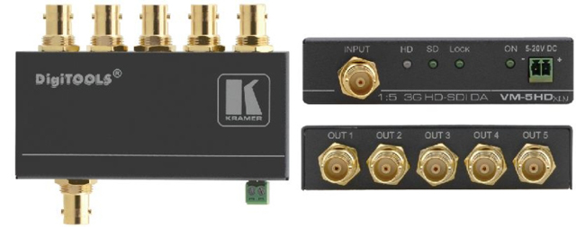 Kramer VM-5HDxlN 1:5 3G HD-SDI Distribution Amplifier