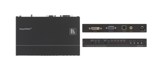Component/S-Video to VGA/DVI ProScale Digital Scaler (up to WUXGA/1080p)