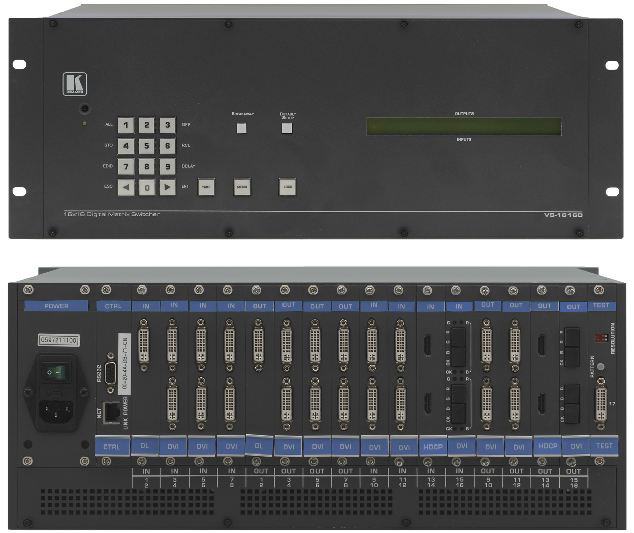 Kramer VS-1616D 2x2 to 16x16 Modular Multi-Format Digital Matrix Switcher