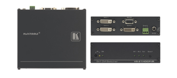 Kramer VS-21HDCP-IR 2x1 HDCP Compliant DVI Video Switcher, IR