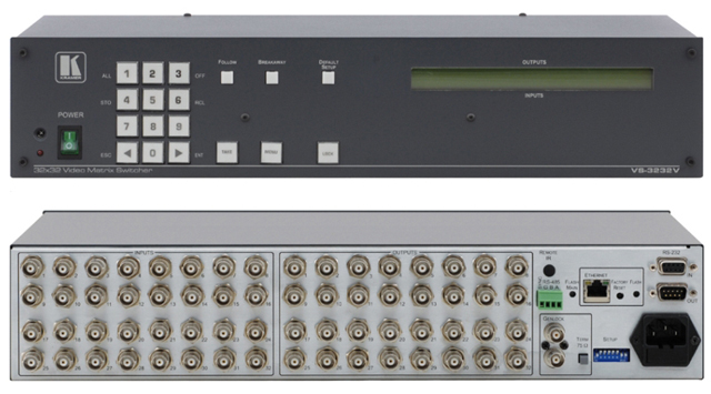 32x32 Composite Video Matrix Switcher (300MHz)