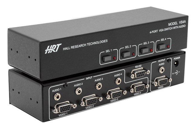 Hall Research VS-4A 4-port VGA Switch with Audio and Serial Control