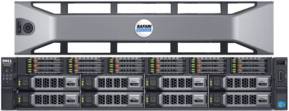 SAFARI Montage WAN-1216X 12- Bay Rackmount Server