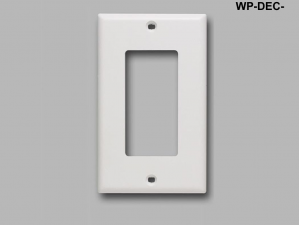 Decorator Style Single Gang Wall Plate, Ivory