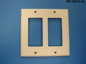 Decorator Style Double Gang Wall Plate, Almond