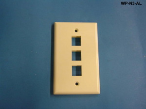 Liberty WP-N3-AL 3 Port Single Gang Wall Plate, Almond