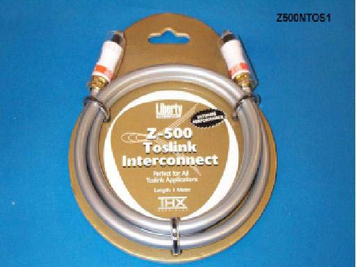 Liberty Z500NTOS10 10ft Z500 TOSLINK Optical Audio Cable