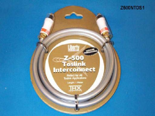 Liberty Z500NTOS1 1ft Z500 TOSLINK Optical Audio Cable