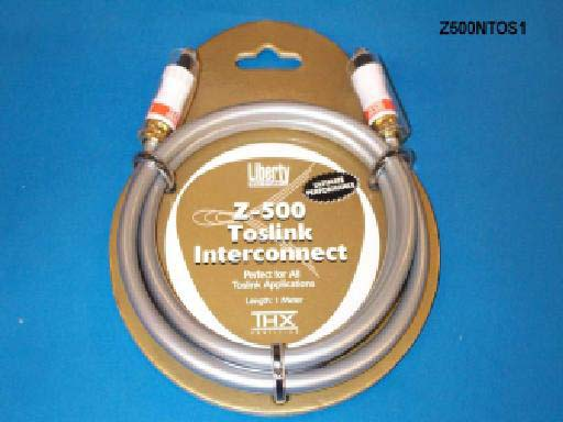 Liberty Z500NTOS15 15ft Z500 TOSLINK Optical Audio Cable