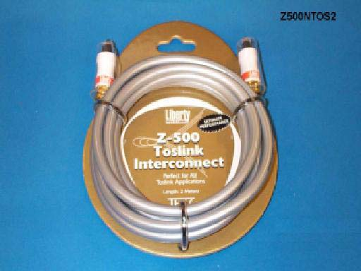Liberty Z500NTOS6 6ft Z500 TOSLINK Optical Audio Cable