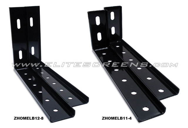 Elite ZHomeLB12-8 12in Wall/Ceiling Brackets for Home2 & CineTension2 (Black)