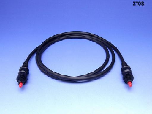 1M TOSlink EIAJ Fiber Optic Audio Cable, Black