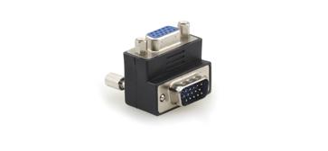 Kramer AD-GM/GF/RA 15-Pin HD (M) to 15-Pin HD (F) Right-Angle Adapter