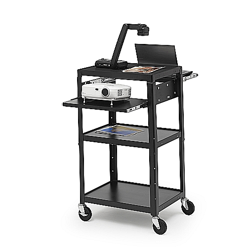Bretford A2642DNSE Multimedia Cart Adj, 4in. Caster, Incl Elec