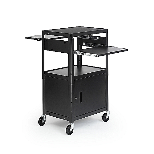 Bretford CA2642DNS Multimedia Cab Cart Adj, 4in. Caster