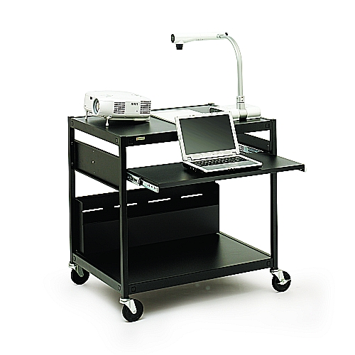 Bretford ECILS15-BK Multimedia Cart, Short, 4in. Caster, Black