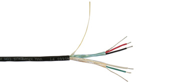 2 Shielded Pair + Drain Wire Stereo/Serial Plenum Bulk Cable