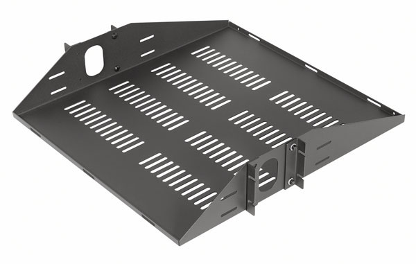 VMP ER-S2CM Vented 2 Space Center Mount Rack Shelf