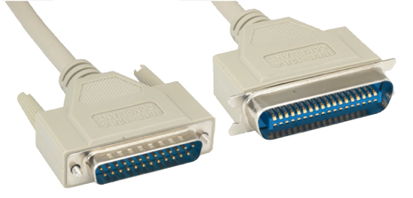 Comprehensive 1284M-CEN36-50ST IEEE-1284 DB25 To CEN36 Printer Cable 50ft