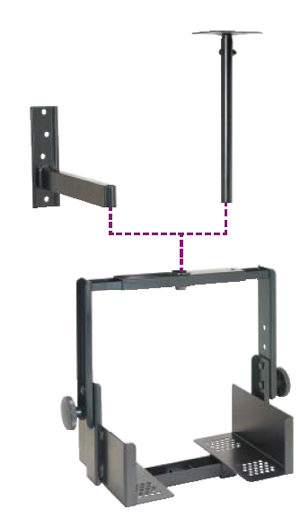 Visual Mount Products VMP042/044 Small CCTV Monitor Ceiling/Wall Bracket