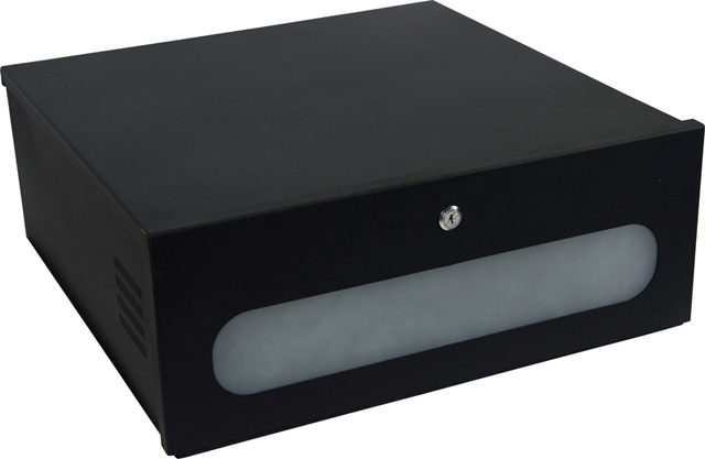 VMP DVR-LB2 DVR Lockbox, Smoked Plexiglas Window
