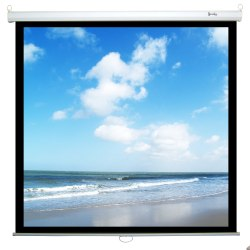 71in. ReTract Deluxe Manual Wall Screen w/ Regulated Screen Return (50x50in.)