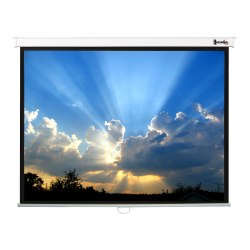 84in. ReTract Deluxe Manual Wall Screen w/ Regulated Screen Return (50x67in.)