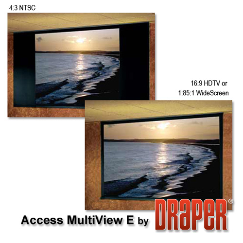 Draper 106002 Access MultiView/E Motorized Projection Screen 106in