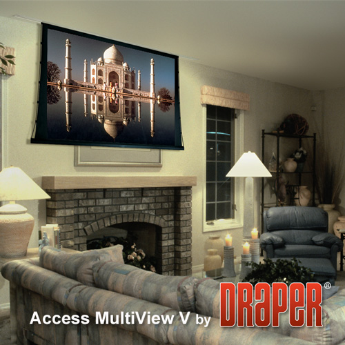 Draper 105012 Access MultiView/V Motorized Projection Screen 133in