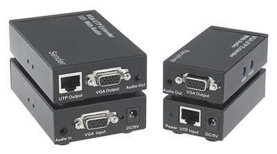 Comprehensive Single Source, Single Display VGA Extender over Cat5e