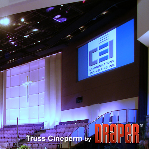 Draper 250037 Cineperm Fixed Projection Screen 90in x 120in