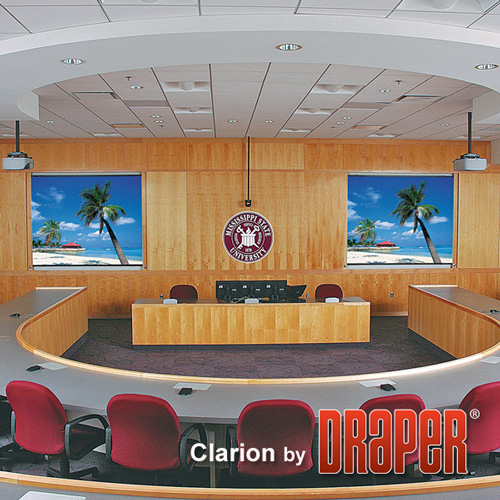 Draper 252073 Clarion Fixed Projection Screen 100in