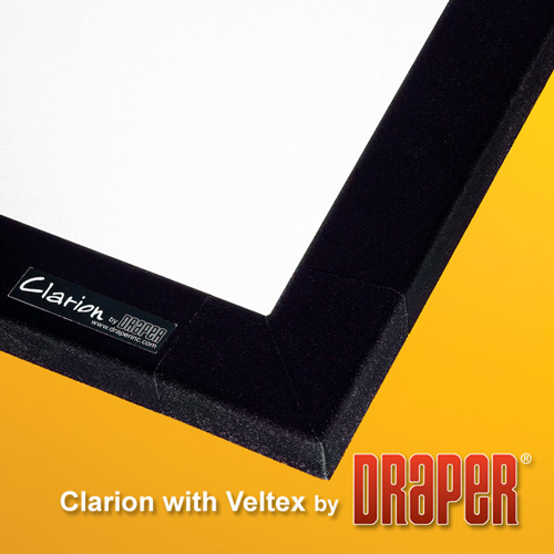 Draper 252253 Clarion Veltex Fixed Projection Screen 100in