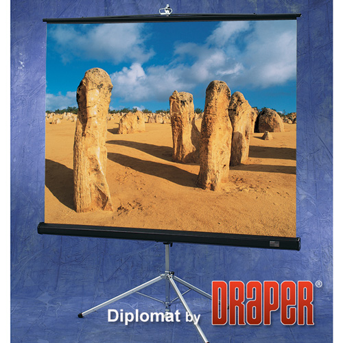 Draper 213002 Diplomat Portable Projection Screen 60in x 60in