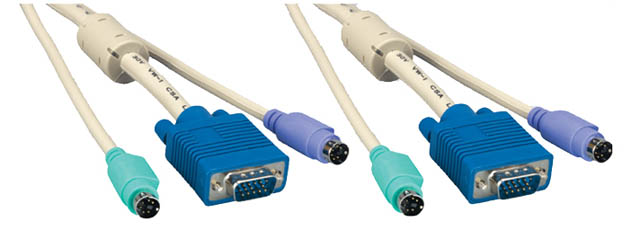 Comprehensive KVM15MM-3ST KVM HD15M & MD6M & MD6M Cable 3ft.