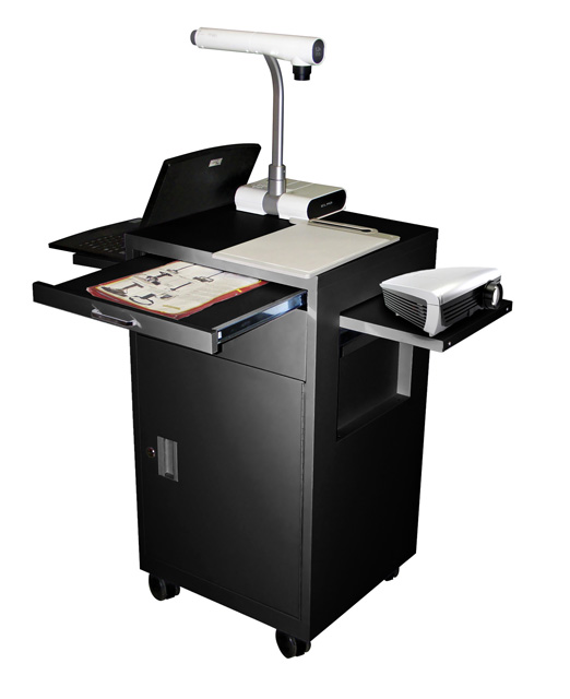 Luxor Multimedia Cart with Locking Cabinet, Model LMC2
