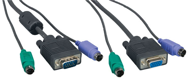 Comprehensive MKVM15MF-15ST Micro KVM Cable HD15MF& MD6M & MD6M 15ft.