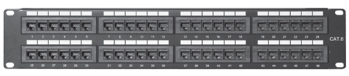 Comprehensive PP48P6 48 port Cat6 patch panel