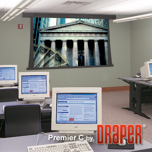 Draper 200126 Premier/C Manual Projection Screen 161in