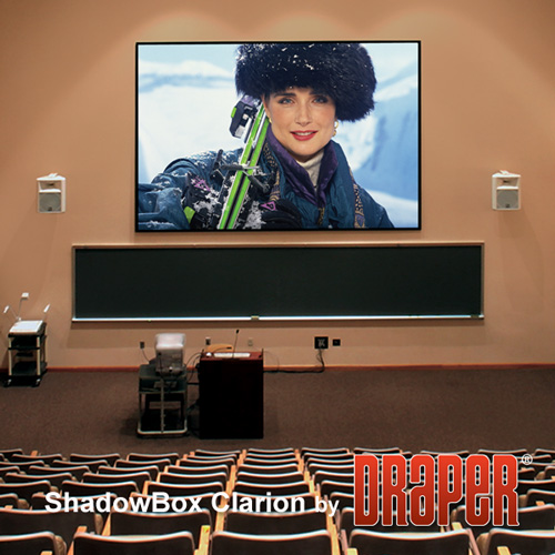 Draper 253118 ShadowBox Clarion Fixed Frame Projection Screen 100in