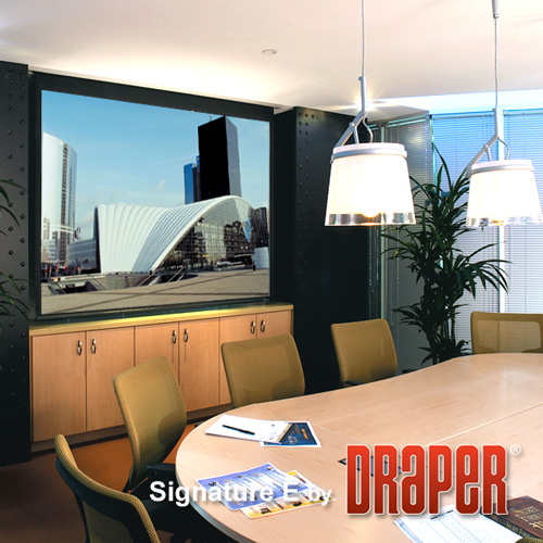 Draper 111763 Signature/E Motorized Projection Screen 184in