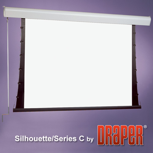 Draper 201111 Silhouette/C Manual Projection Screen 72in x 96in